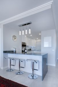 Kitchen interior color snowy white