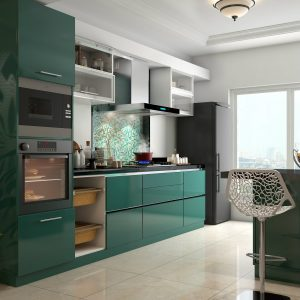 Kitchen Interior Green